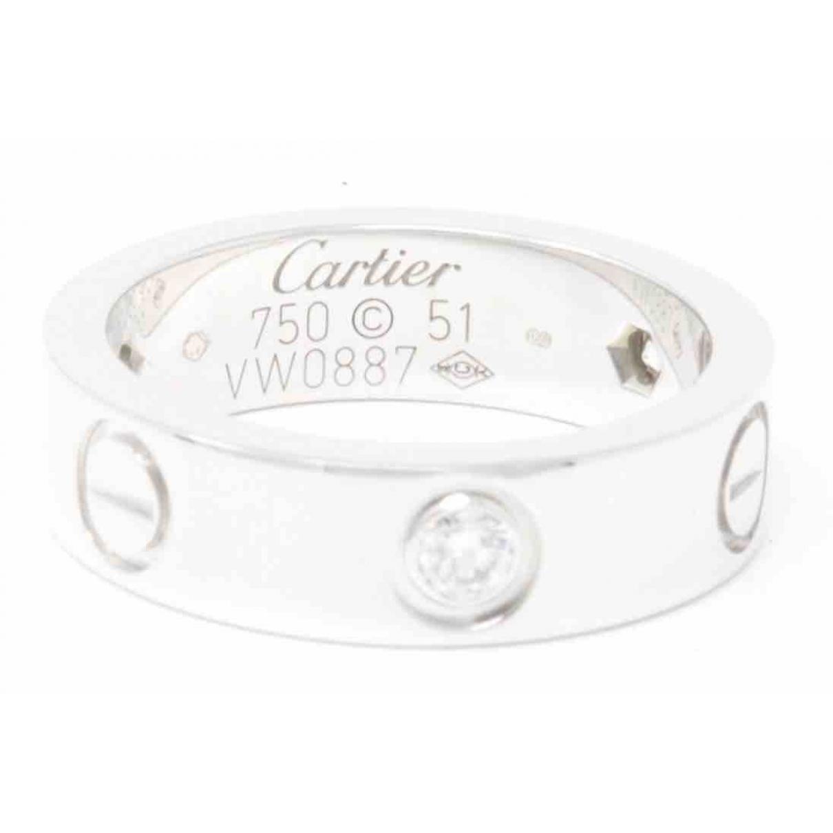 Cartier - Bague Love pour femme en or blanc - argente