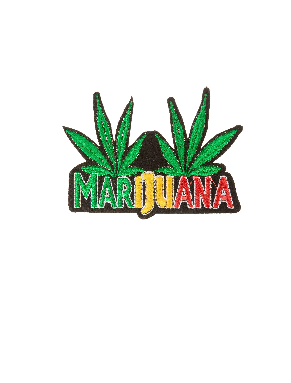 Kostuemzubehor Aufnaeher/Buegelbild Marijuana