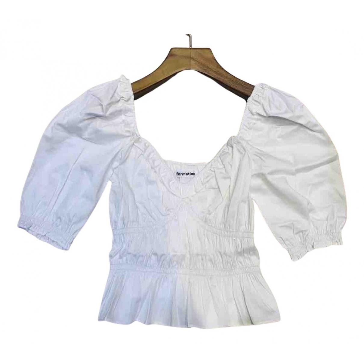 Reformation - Top   pour femme en coton - ecru