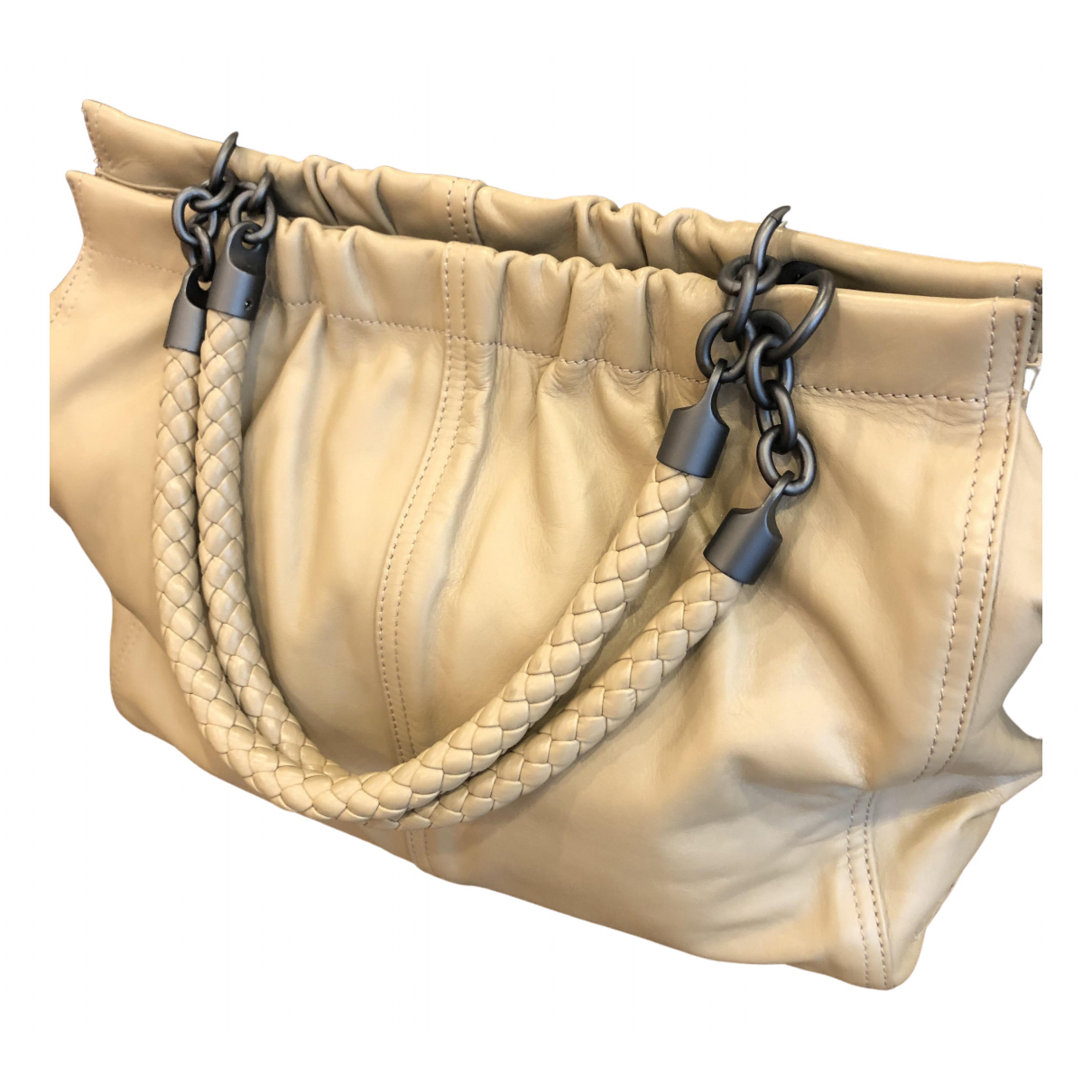 Bottega Veneta - Sac a main   pour femme en cuir - beige