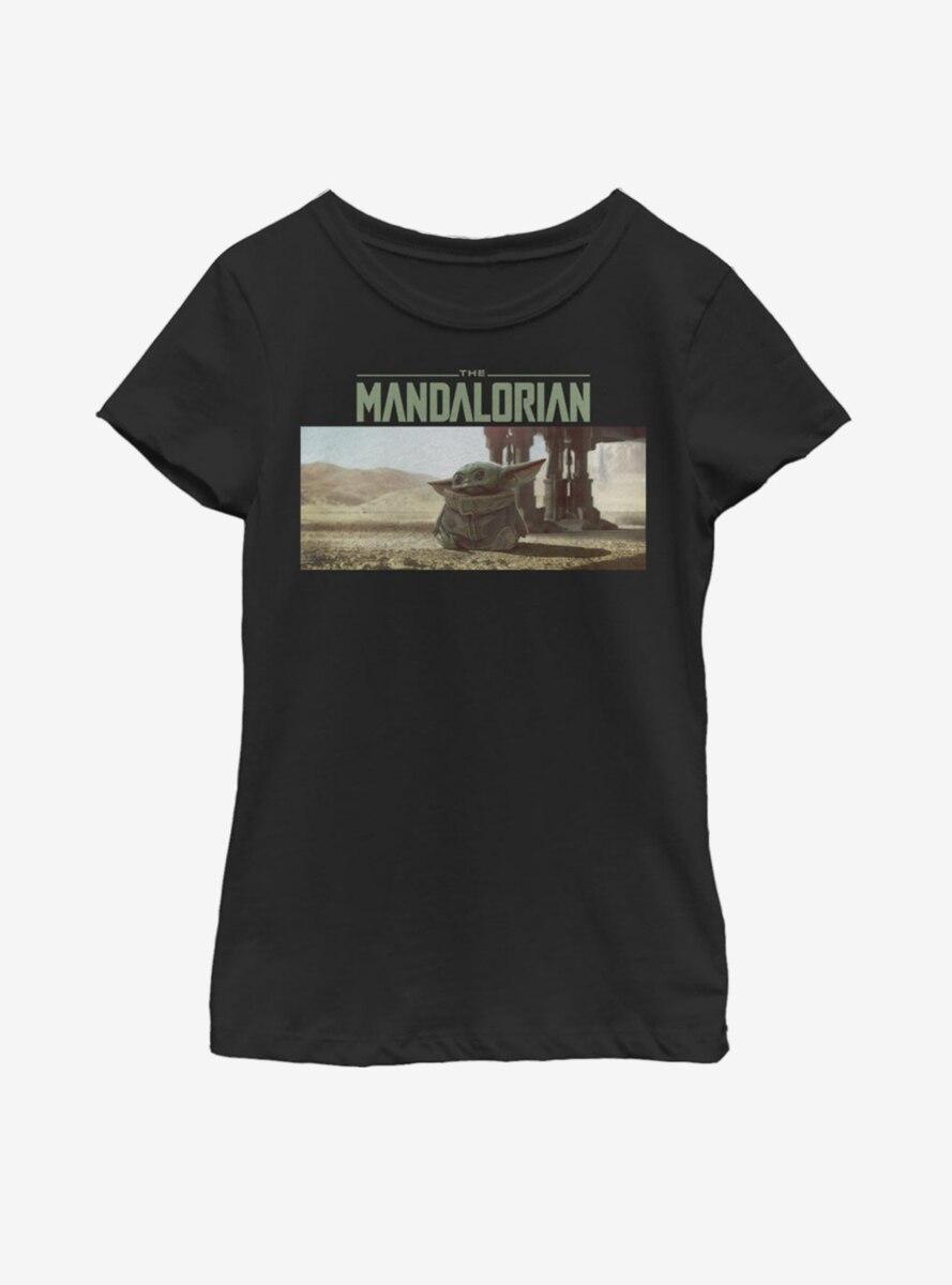 Star Wars The Mandalorian The Child Landscape Scene Youth Girls T-Shirt
