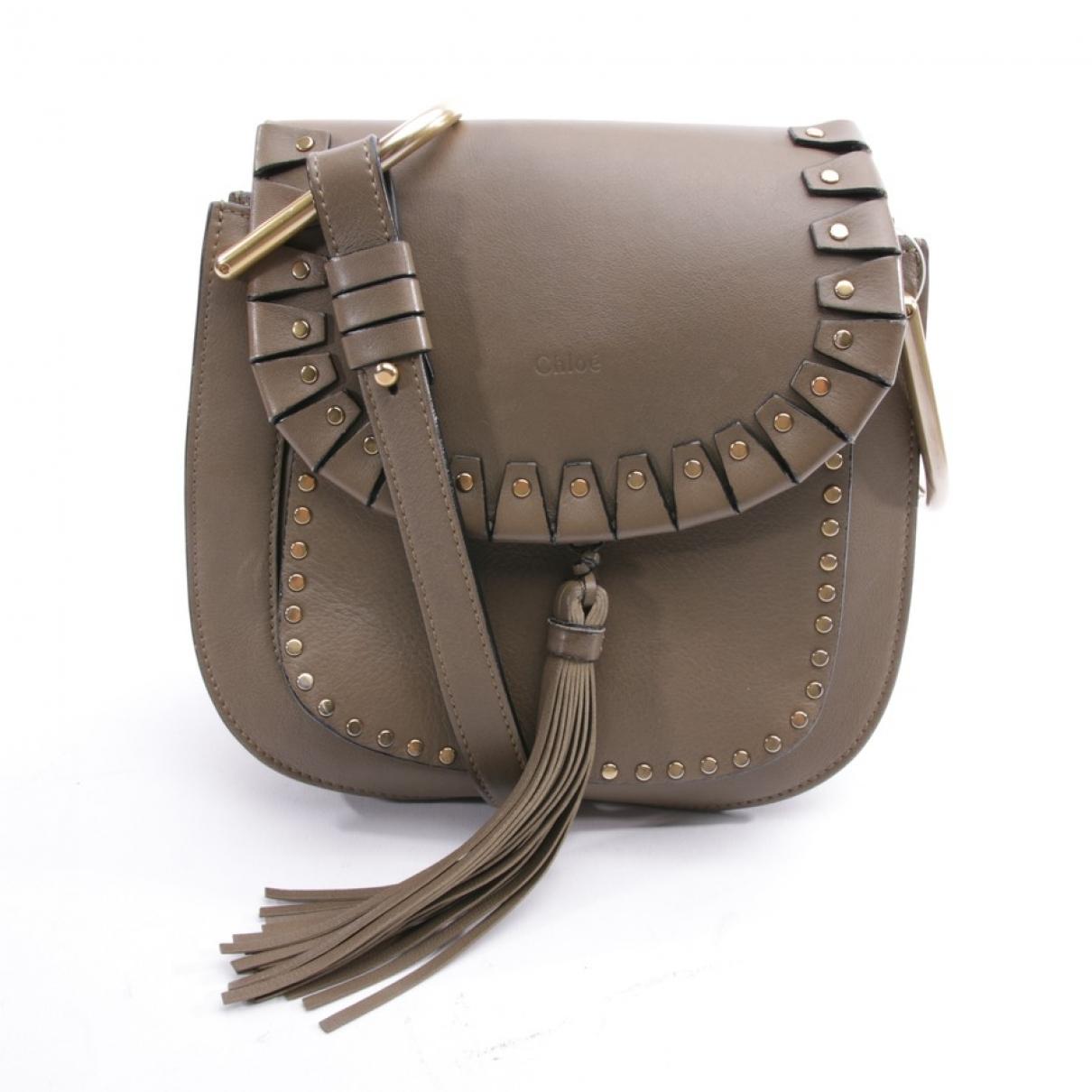 Chloe Hudson Handtasche in  Beige Leder