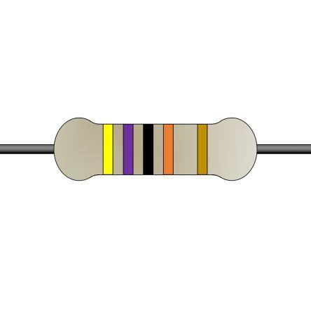 Yageo 4.7kΩ Carbon Film Fixed Resistor 1/6W 5% CFR-12JT-52-4K7 (5000)