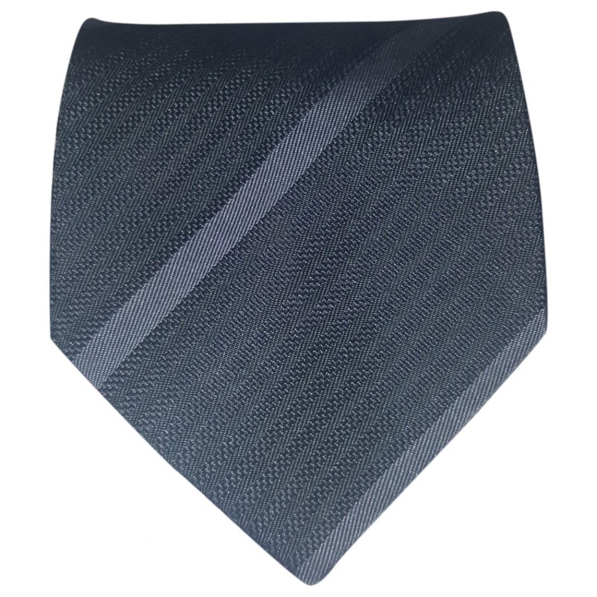 Armani Collezioni \N Anthracite Silk Ties for Men \N