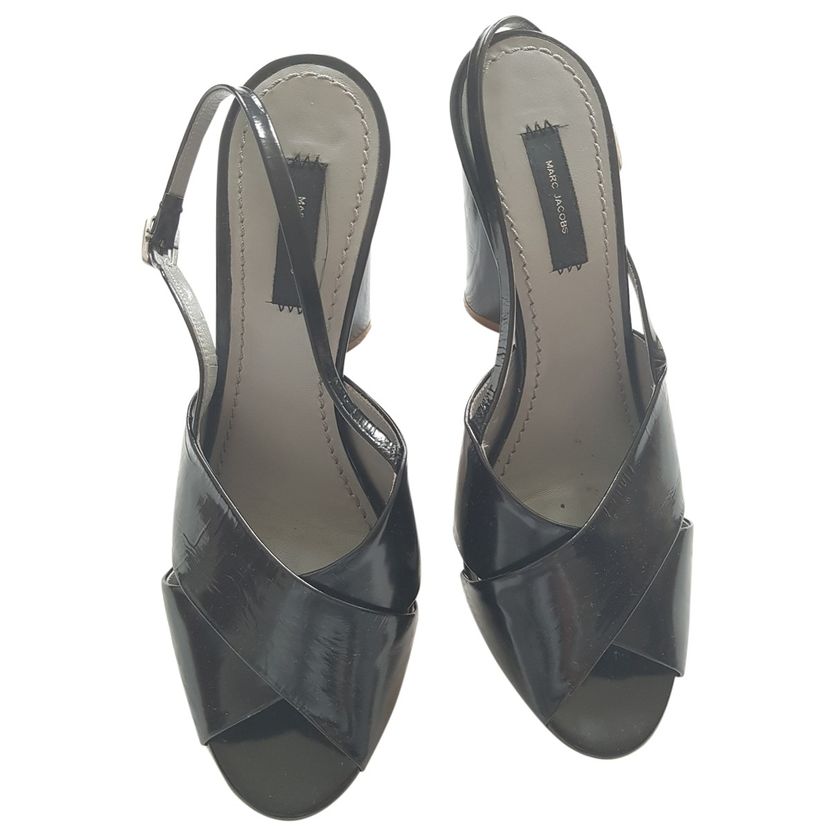 Marc Jacobs \N Black Patent leather Sandals for Women 39.5 EU