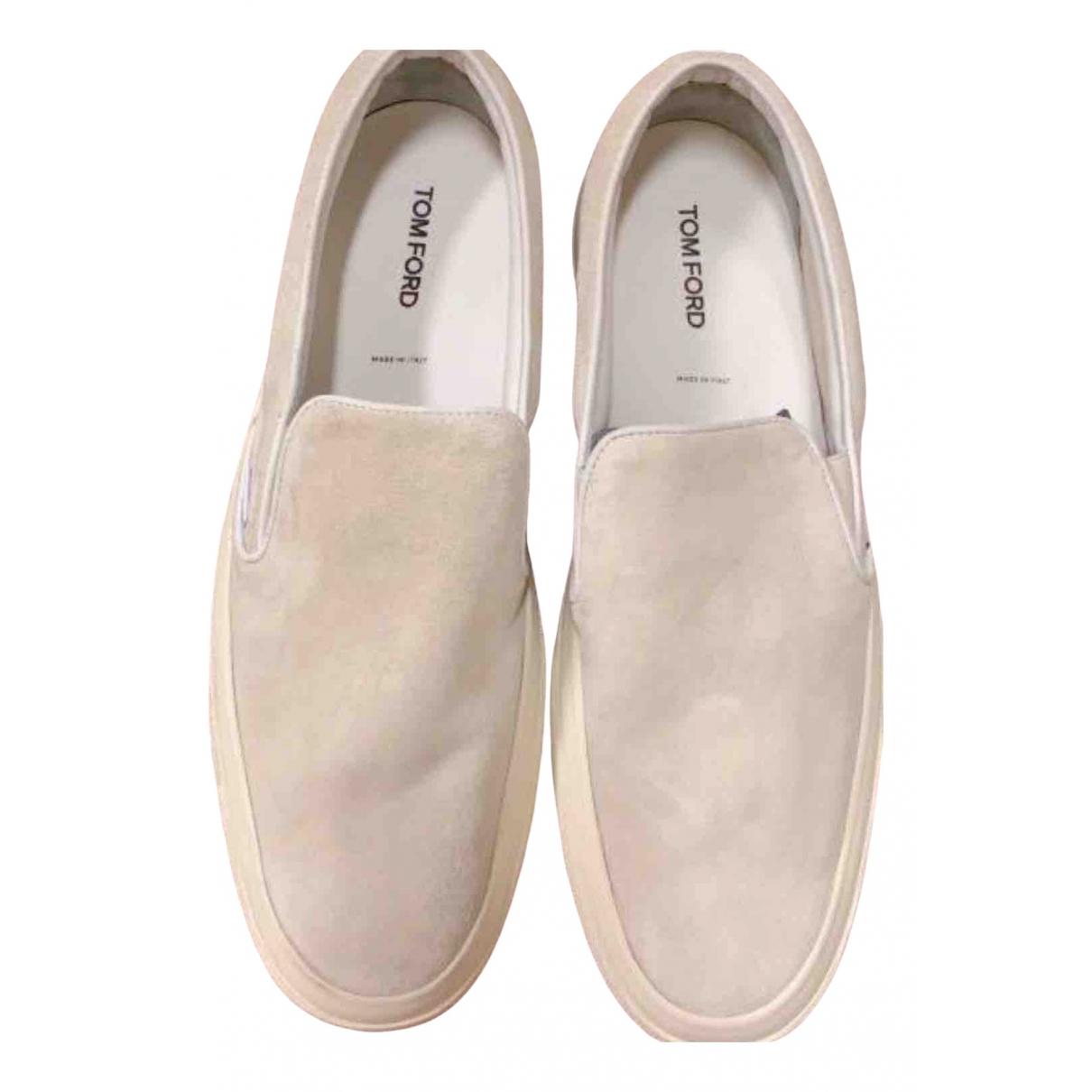 Tom Ford \N Sneakers in  Beige Veloursleder