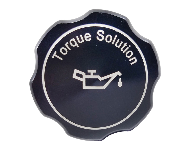 Torque Solution Black Billet Aluminum Oil Cap Subaru STI 04-17
