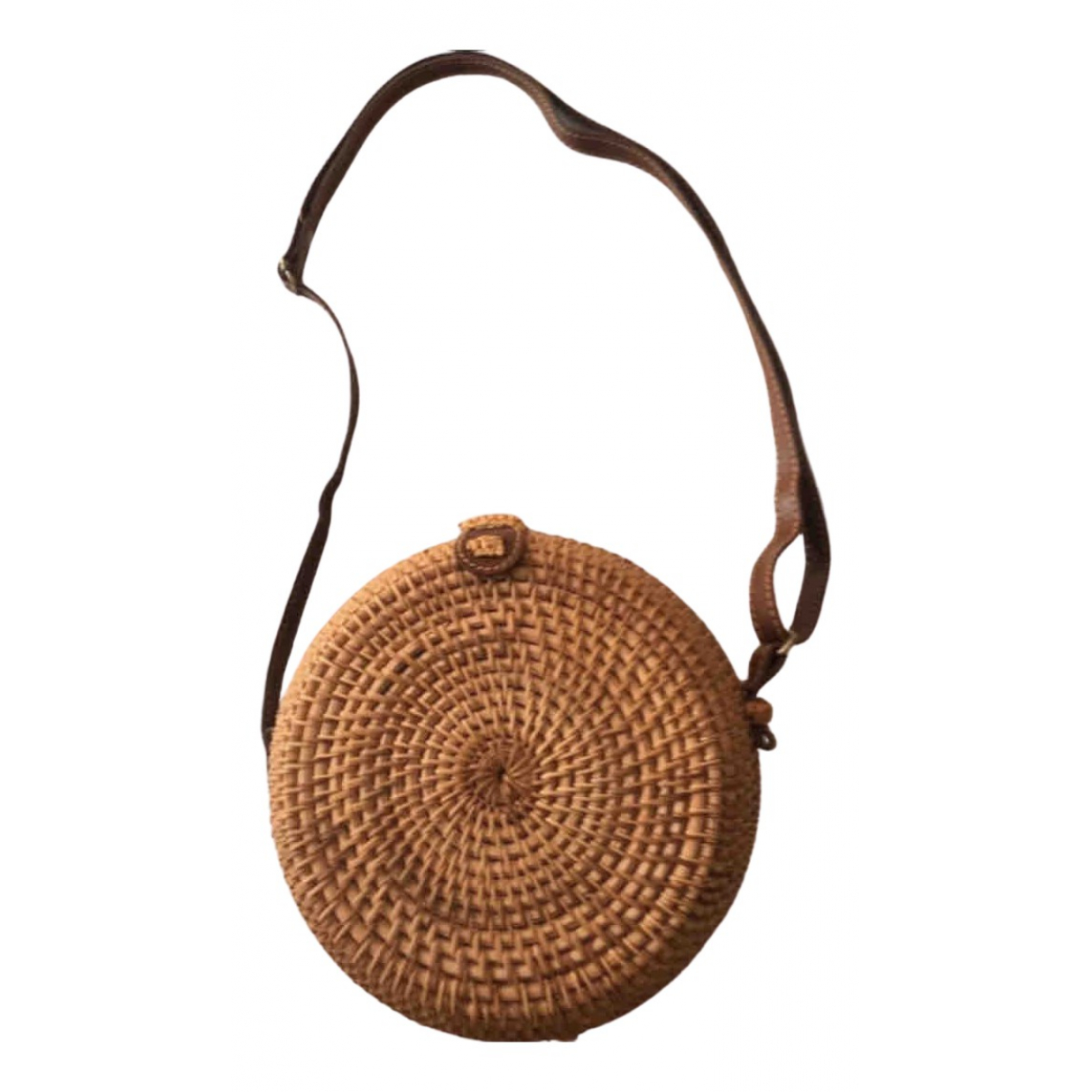 Non Signé / Unsigned \N Camel Wicker handbag for Women \N