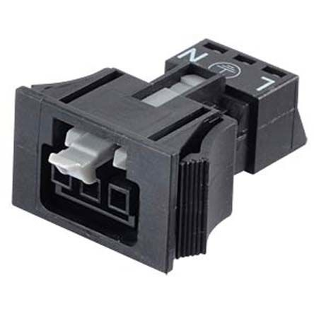 Wago , 890 Female 3 Pole 3 Way WINSTA MINI Snap In Socket, Flange Mount, Snap In Mount, Rated At 16A, 250 V, Black (5)