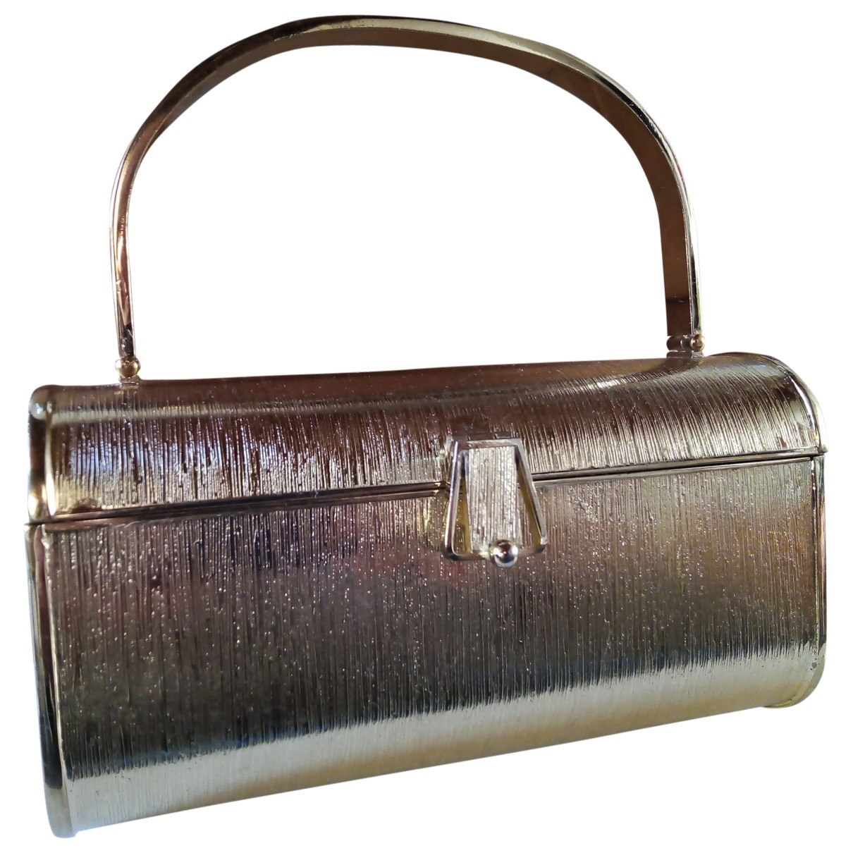 Non Signé / Unsigned \N Gold Metal Clutch bag for Women \N
