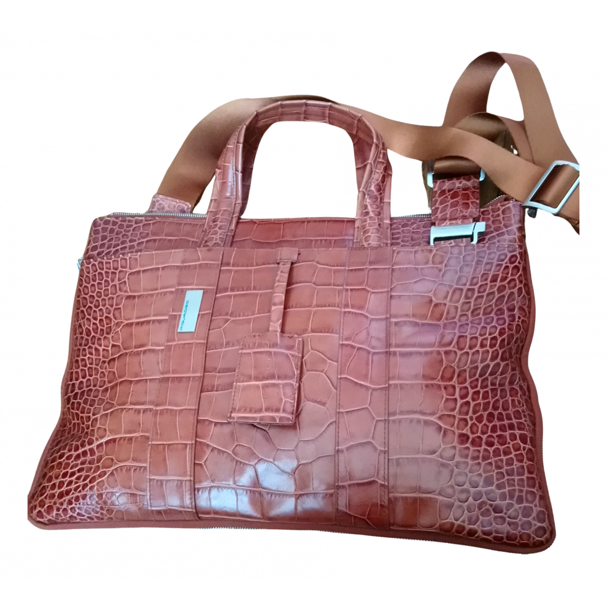Piquadro N Camel Patent leather Travel bag for Women N