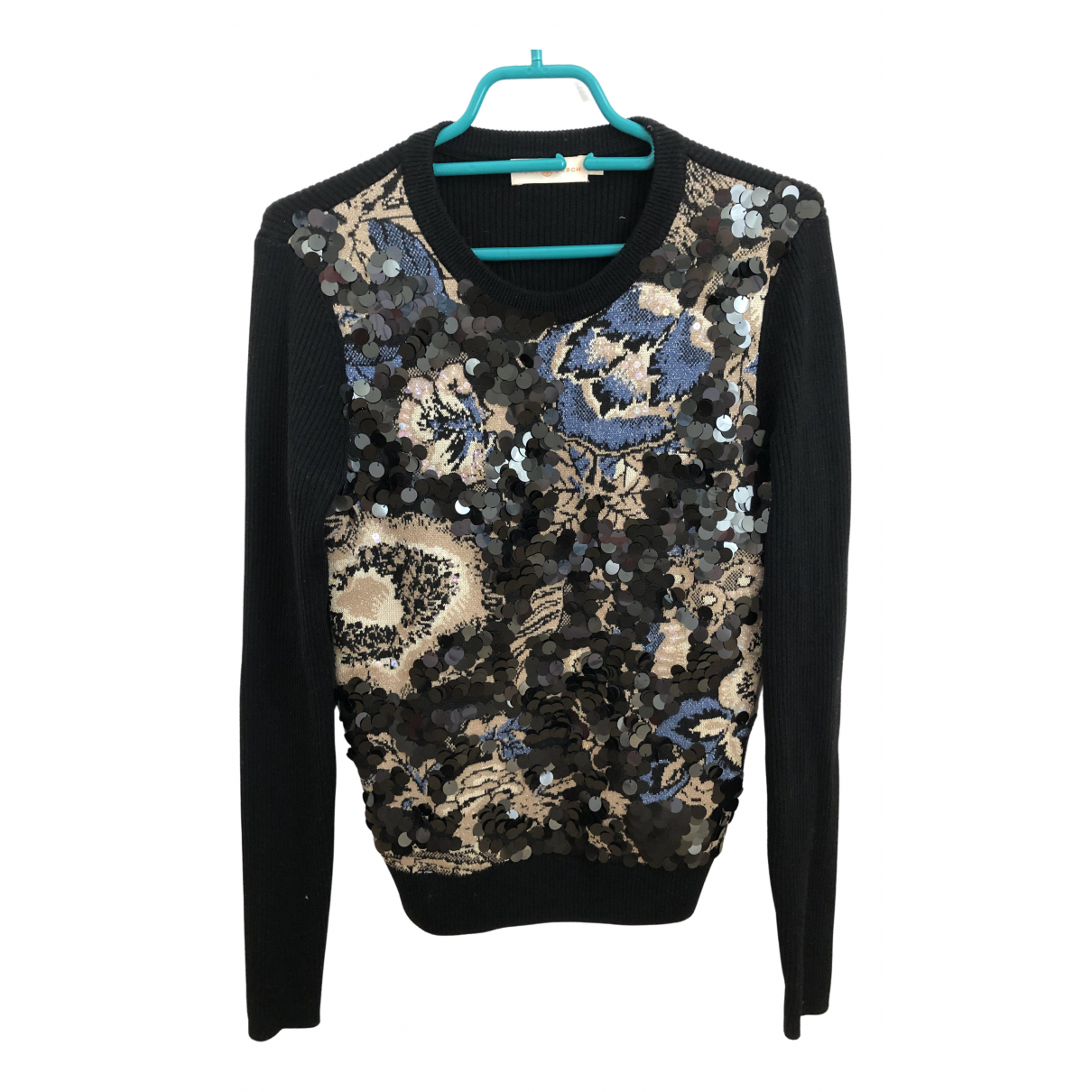 Tory Burch \N Pullover in  Schwarz Wolle