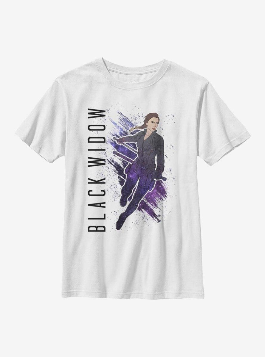 Marvel Black Widow Black Widow Painted Youth T-Shirt