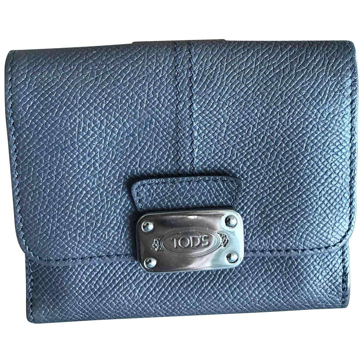 Tods - Portefeuille   pour femme en cuir - gris