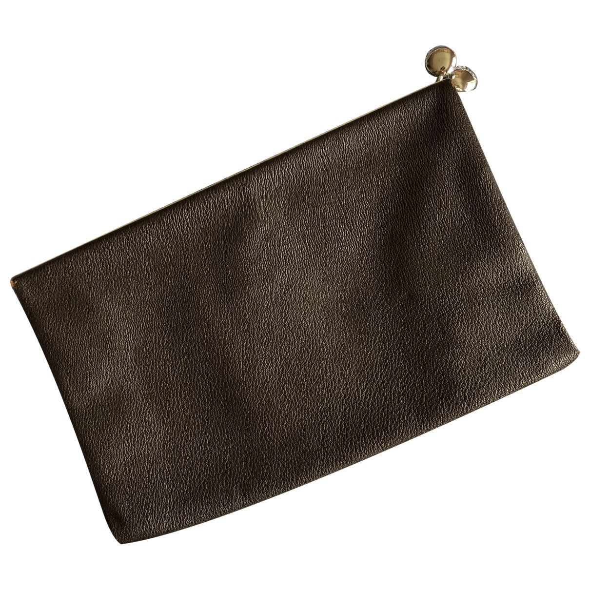 Non Signé / Unsigned \N Brown Clutch bag for Women \N