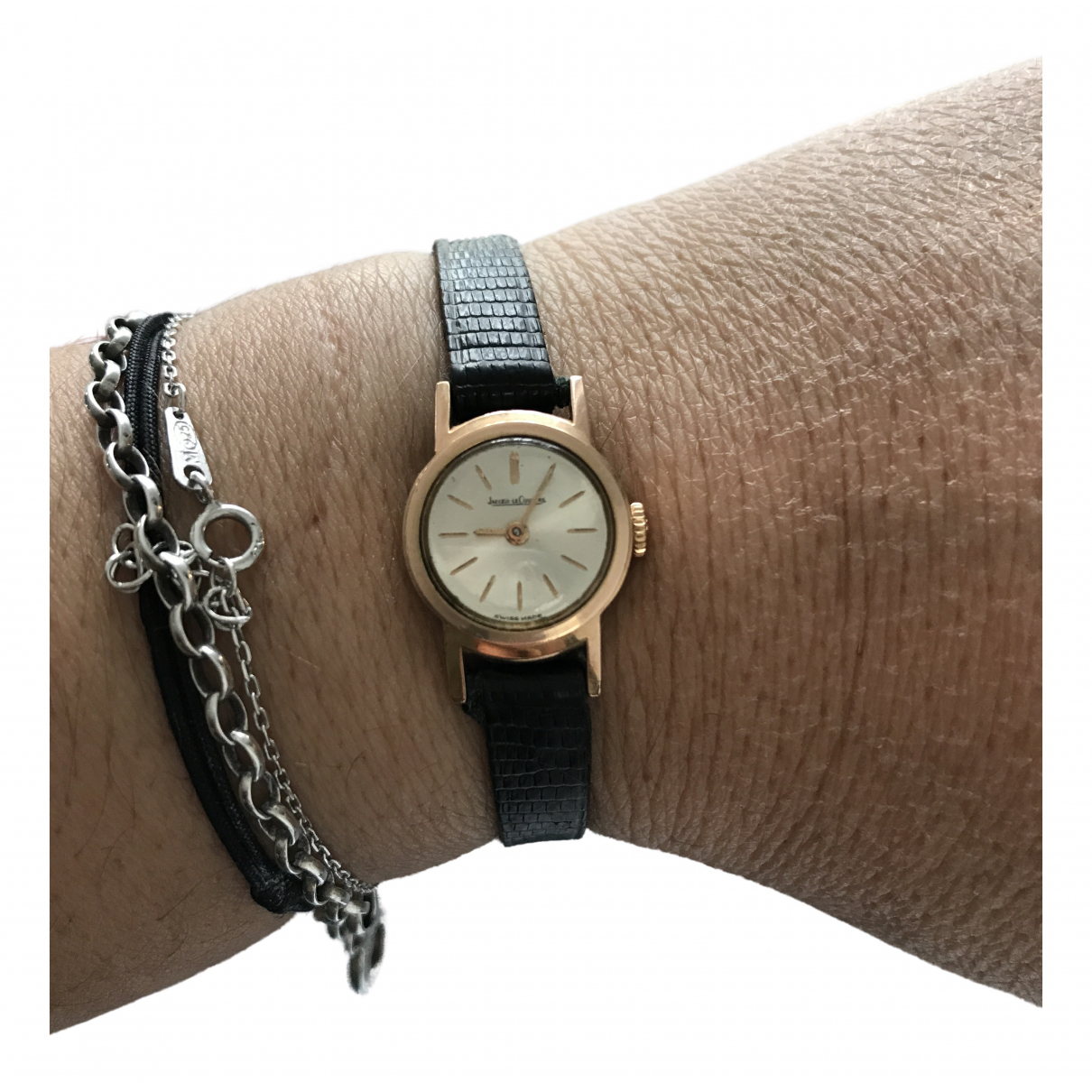 Jaeger-lecoultre Vintage Gold Steel watch for Women N
