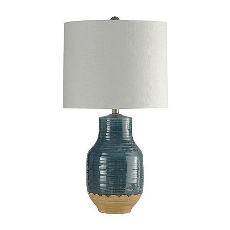 Stylecraft Prova Ceramic Table Lamp, One Size , Blue