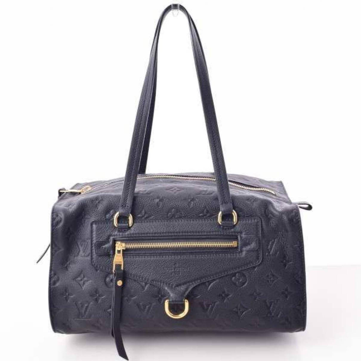Louis Vuitton \N Navy Leather handbag for Women \N