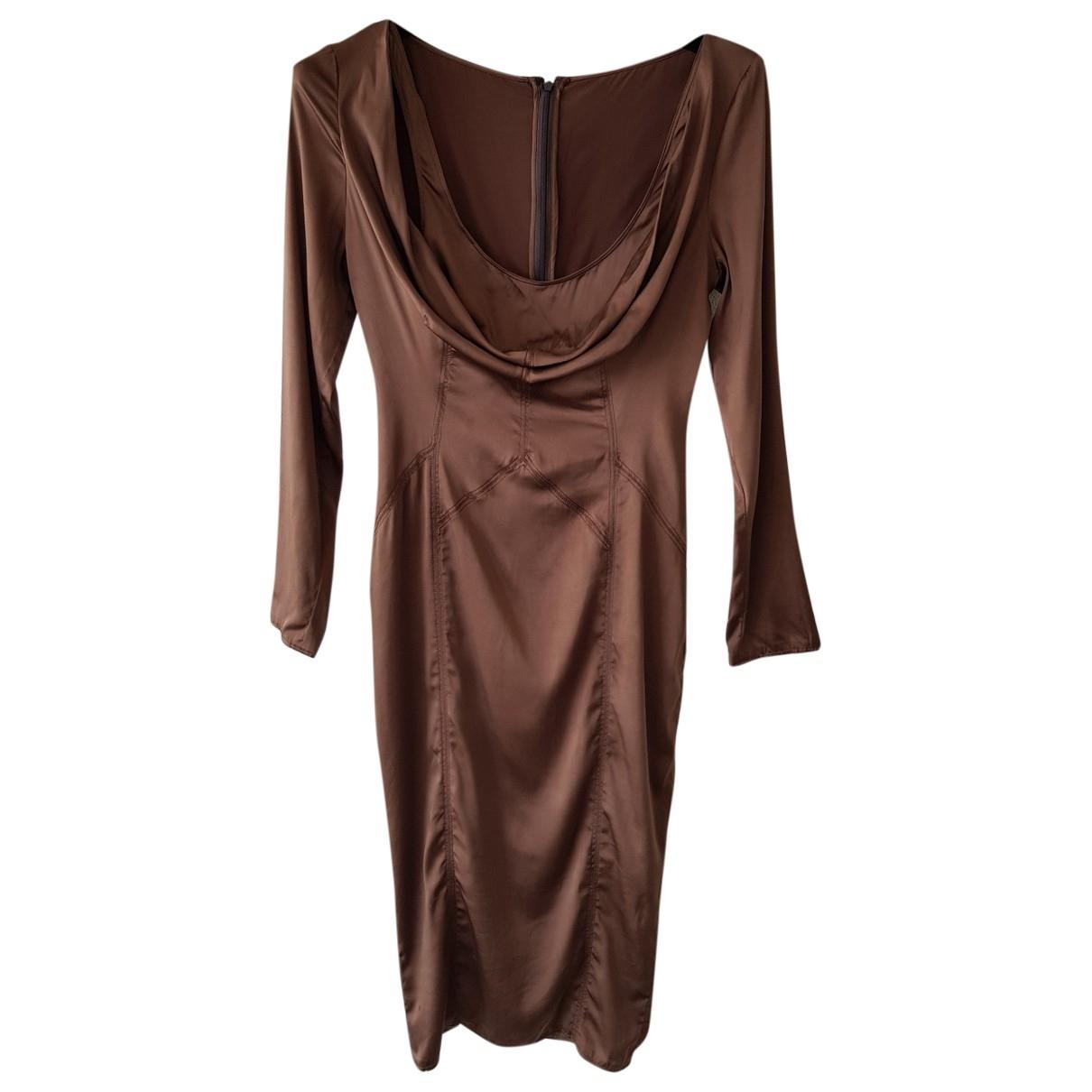 Gucci \N Kleid in  Braun Seide