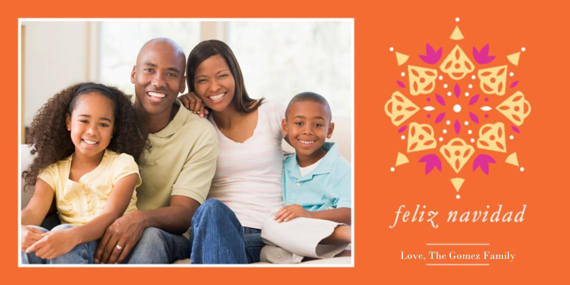 Tarjetas de Navidad 4x8 Flat Card Set, 85lb, Card & Stationery -Feliz Navidad Pattern