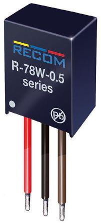Recom Through Hole DC-DC Switching Regulator, 3.3V dc Output Voltage, 6.5 → 32V dc Input Voltage, 6 →