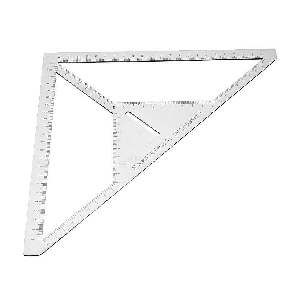 Drillpro Triangle Ruler Multifunction Floor Drain Angle Ruler Pattern Tile Ruler Stainless Steel Measuring Tool