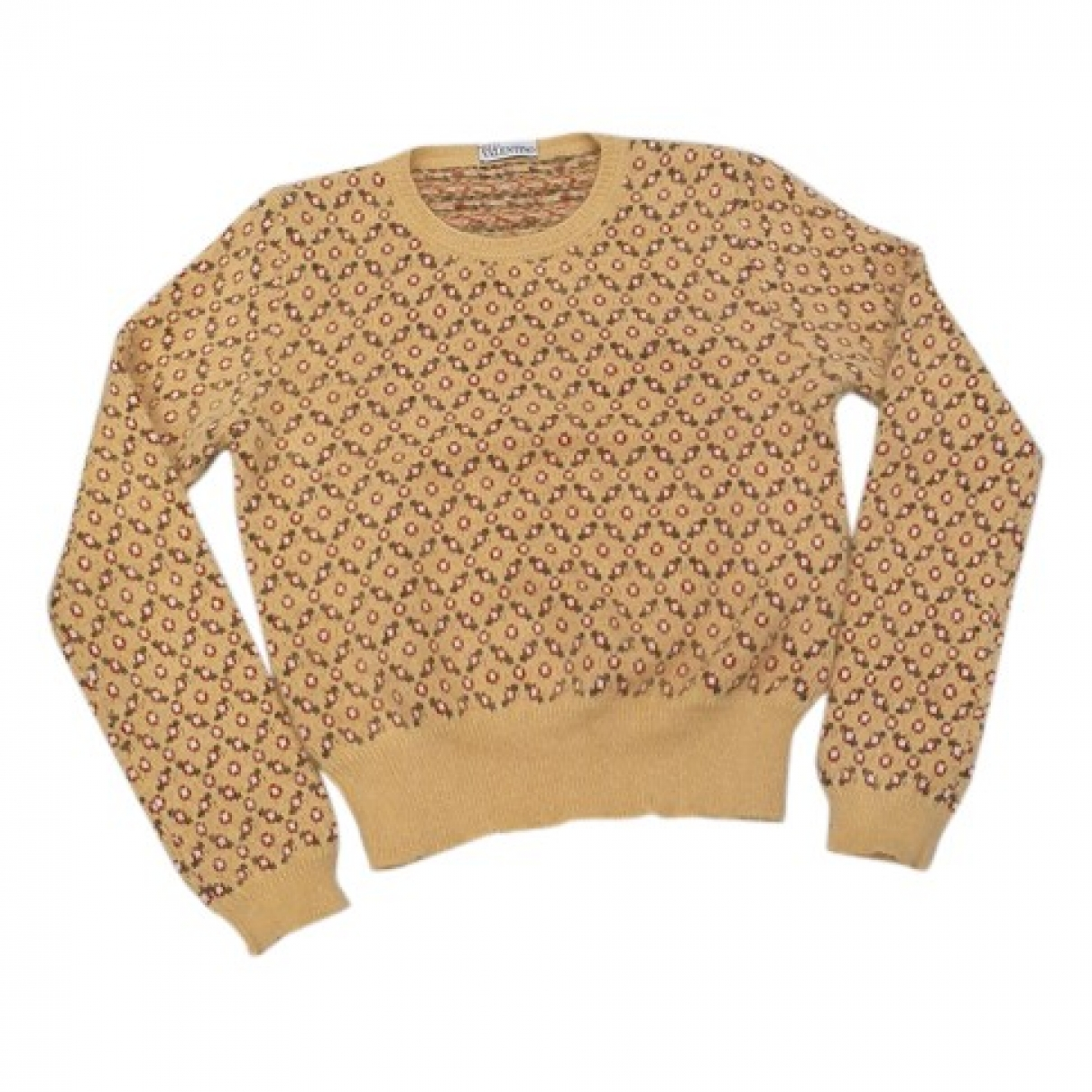 Red Valentino Garavani - Pull   pour femme en laine - jaune