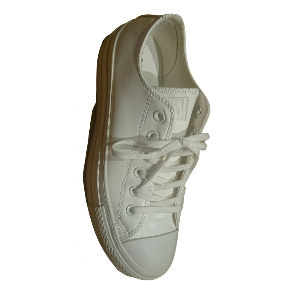 Converse N White Leather Trainers for Women 38 EU