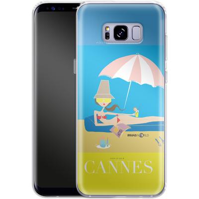 Samsung Galaxy S8 Plus Silikon Handyhuelle - CANNES TRAVEL POSTER von IRMA