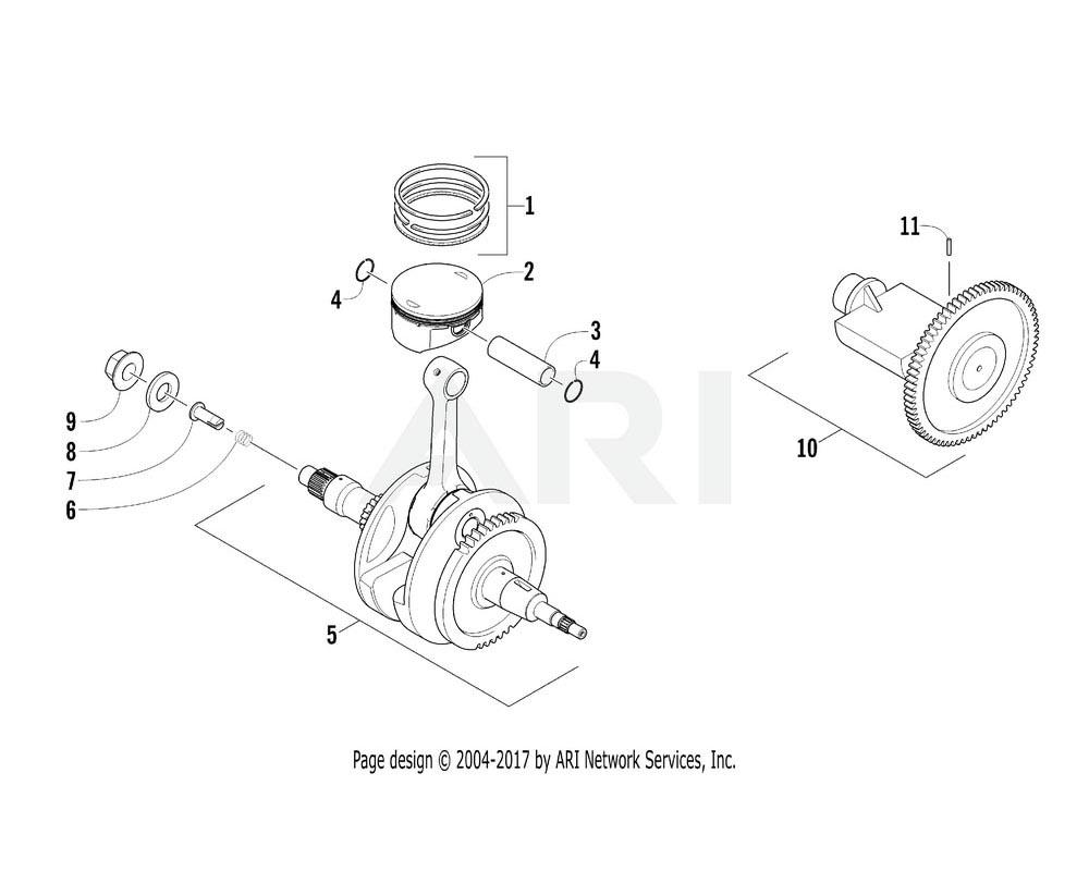 Arctic Cat OEM 3305-624 Shaft Comp Balancer | (Inc. 11)