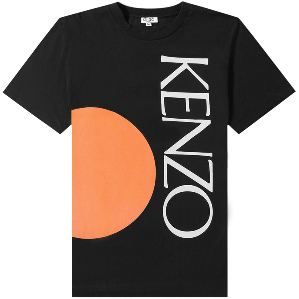 Kenzo Colorblock T-shirt Colour: BLACK, Size: SMALL