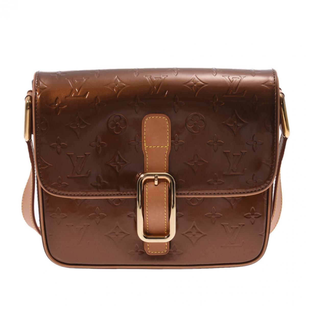 Louis Vuitton Christie Handtasche in  Braun Lackleder