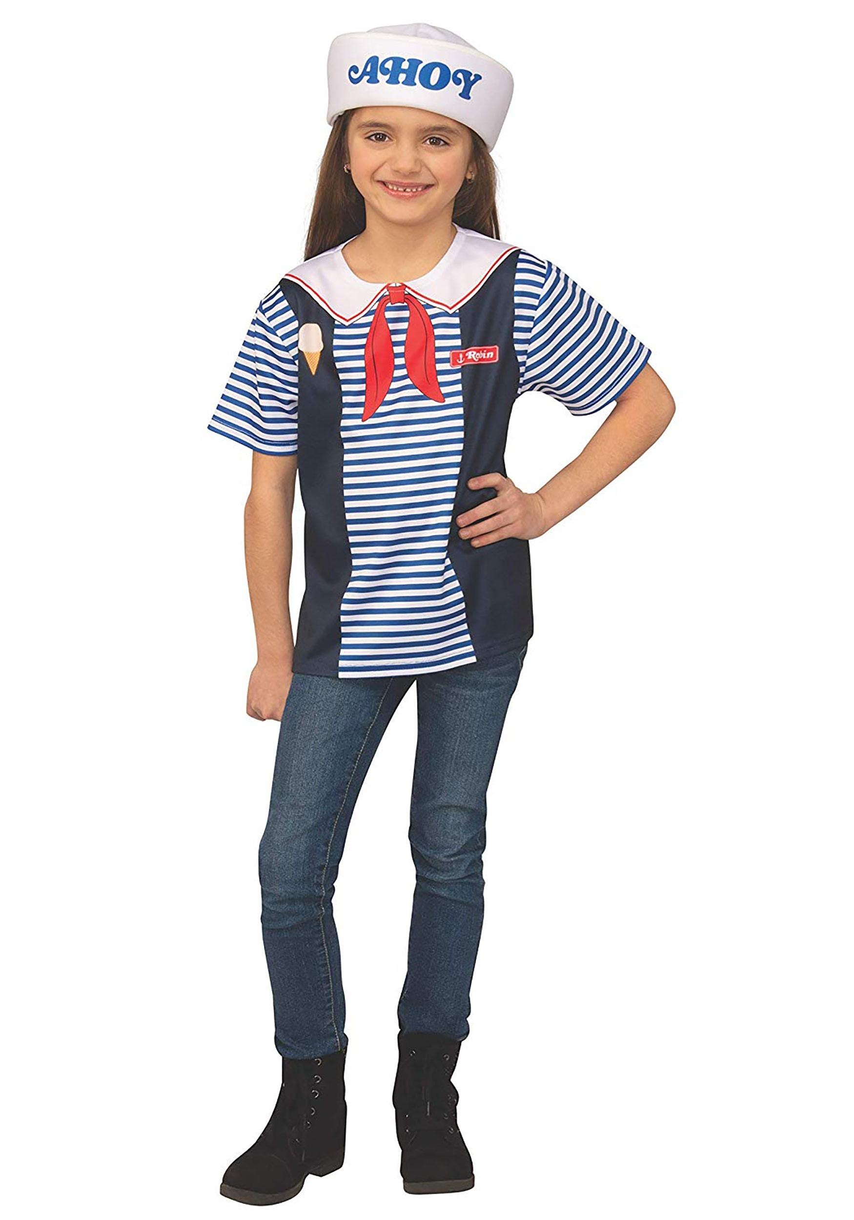 Stranger Things Robin's Scoops Ahoy Uniform Costume for Kids