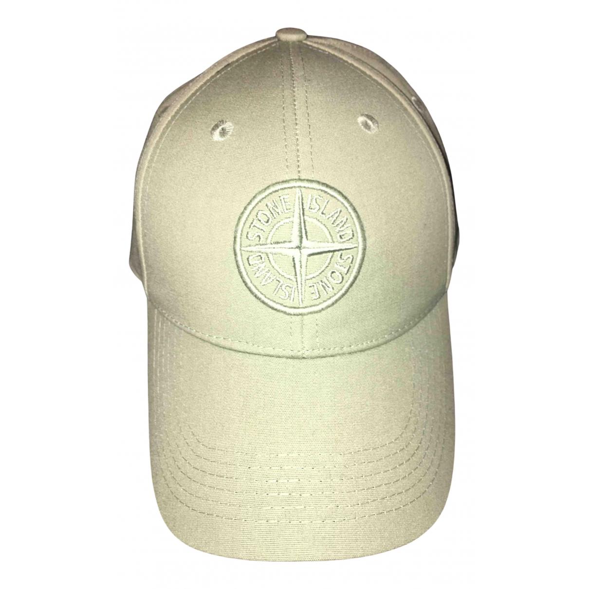 Stone Island - Chapeau & Bonnets   pour homme en toile - vert