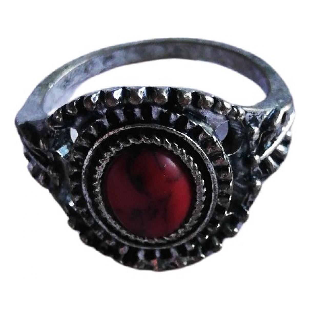 - Bague   pour femme en metal - rouge