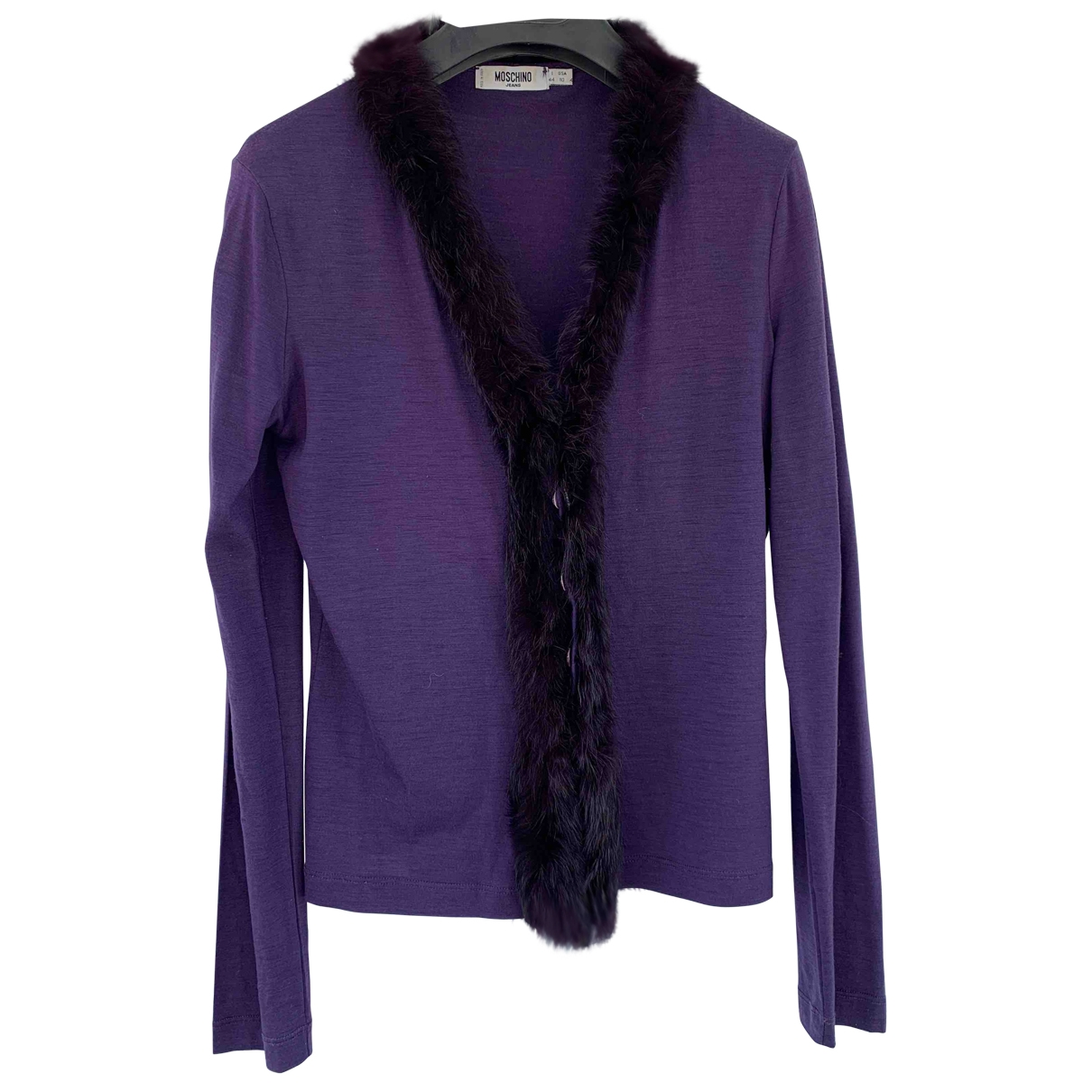 Moschino Cheap And Chic - Pull   pour femme en laine - violet