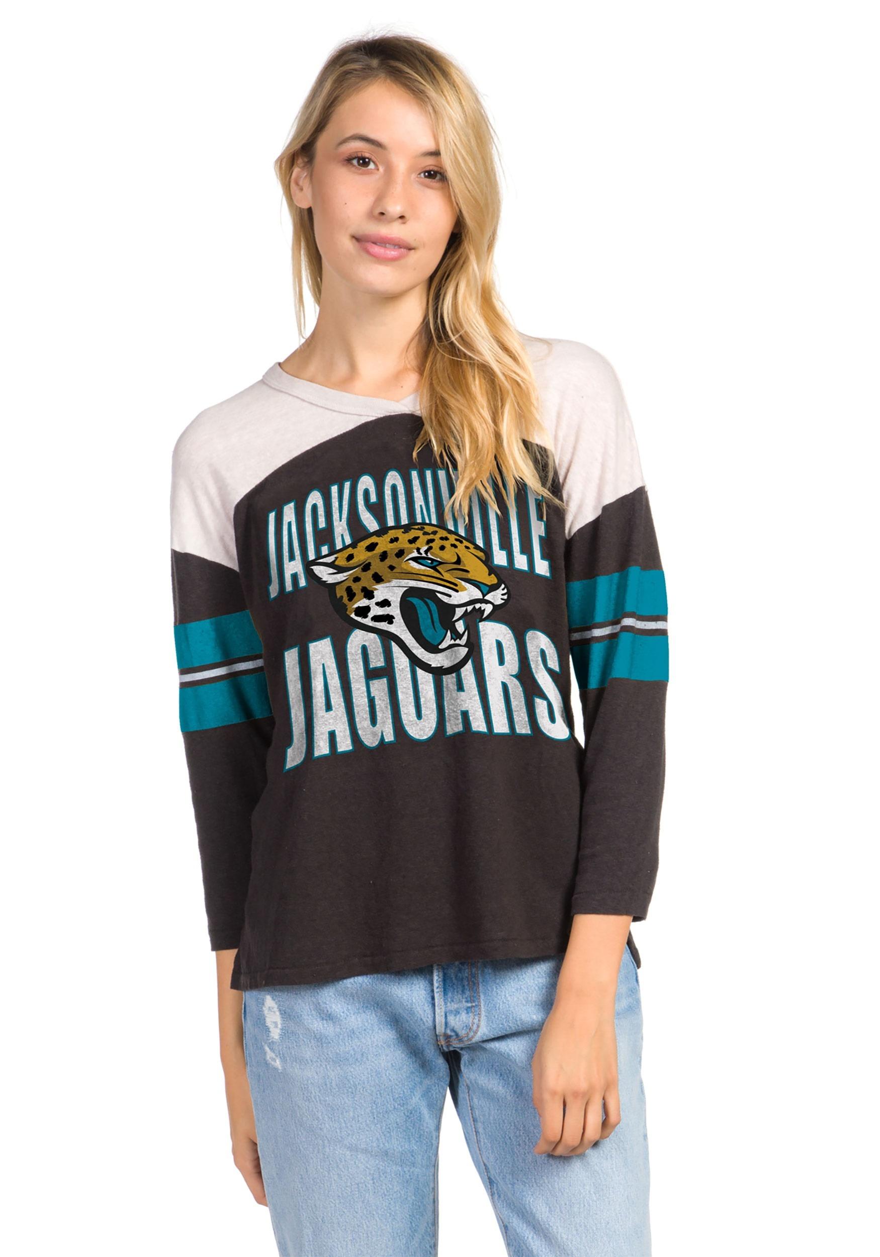 Women's Black Throwback Jacksonville Jaguars Tee