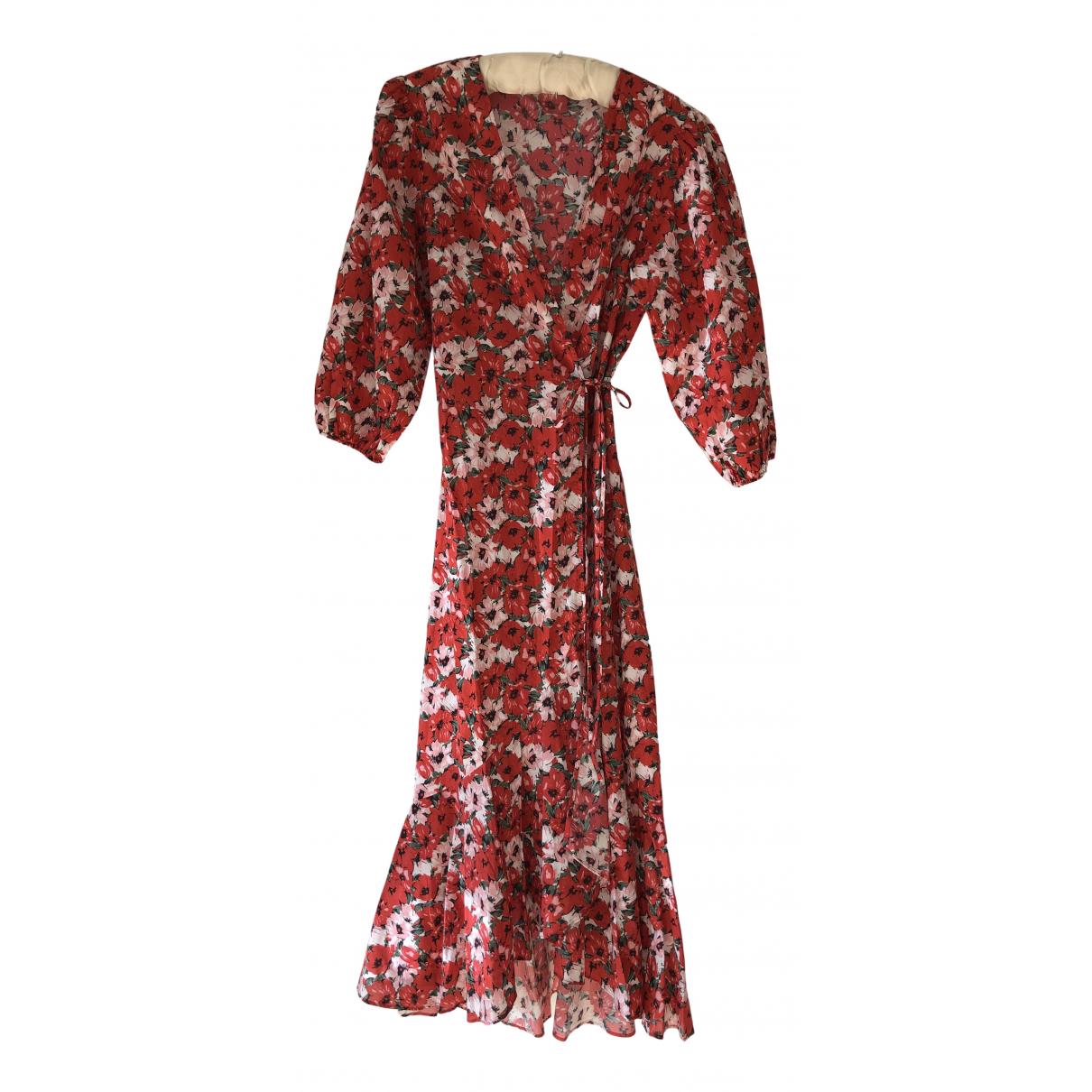 Rixo \N Kleid in  Rot Baumwolle