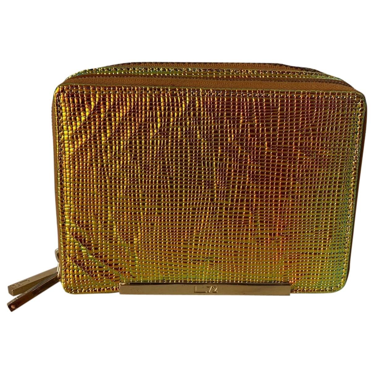 Non Signe / Unsigned \N Handtasche in  Metallic Leder