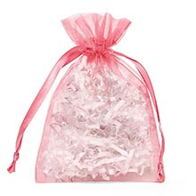 Sheer Rose Organza Drawstring Bags - Quantity: 30 - Fabric Bags Width: 6 Height/Depth: 9 by Paper Mart