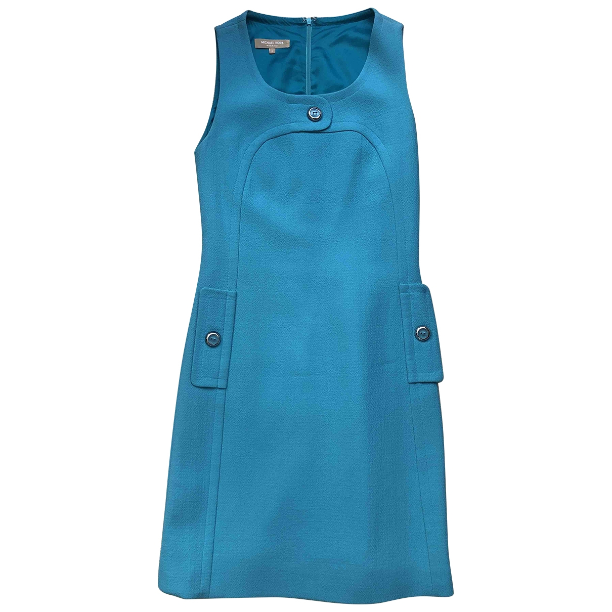 Michael Kors - Robe   pour femme en laine - turquoise
