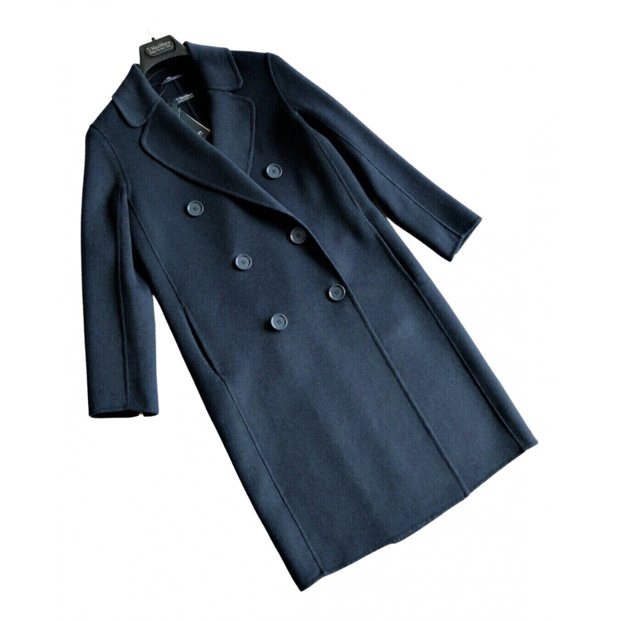 Max Mara 's N Navy Wool coat for Women 38 IT