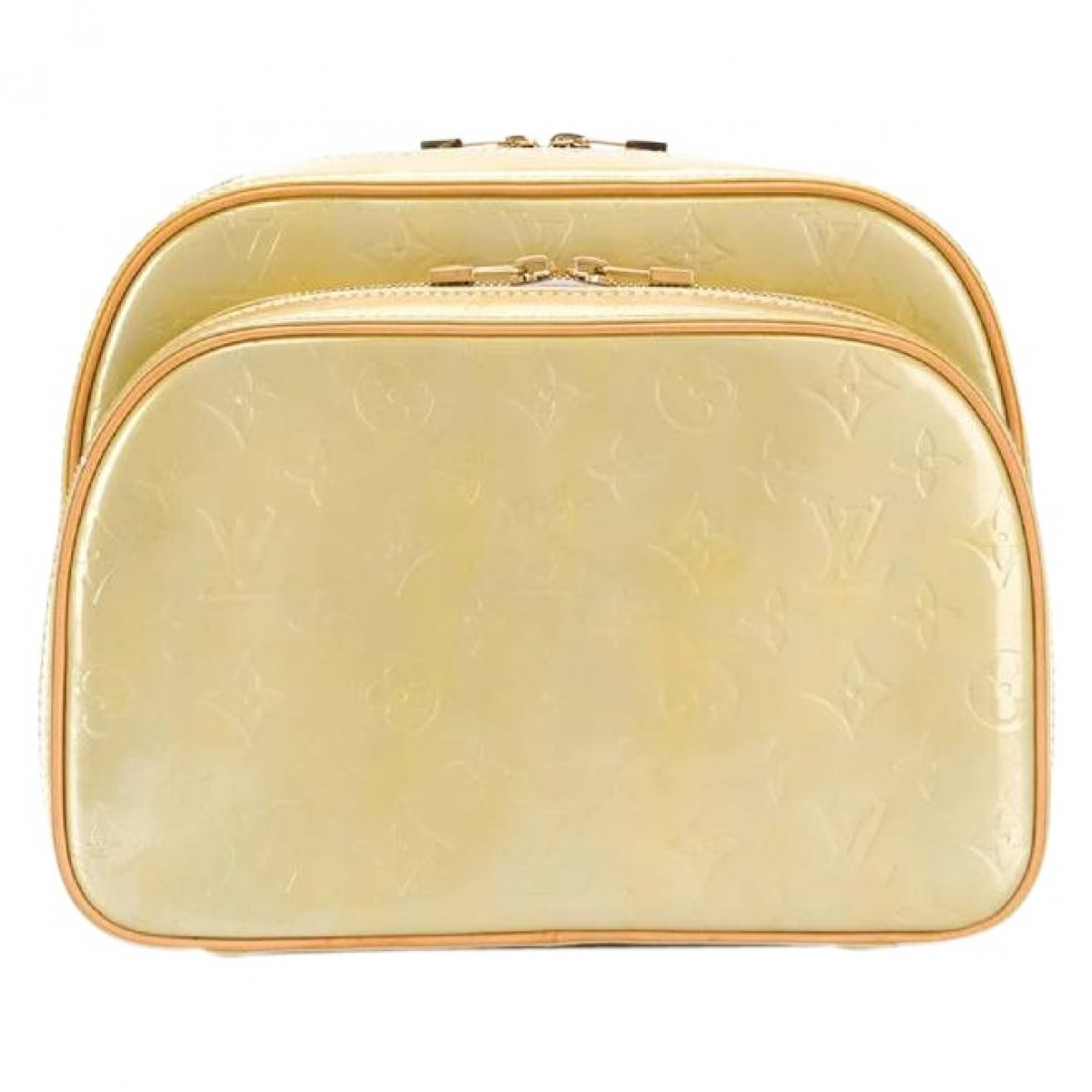 Louis Vuitton \N Beige Patent leather backpack for Women \N