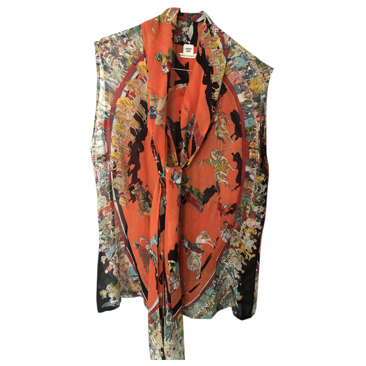 Hermès N Orange Silk  top for Women 42 FR