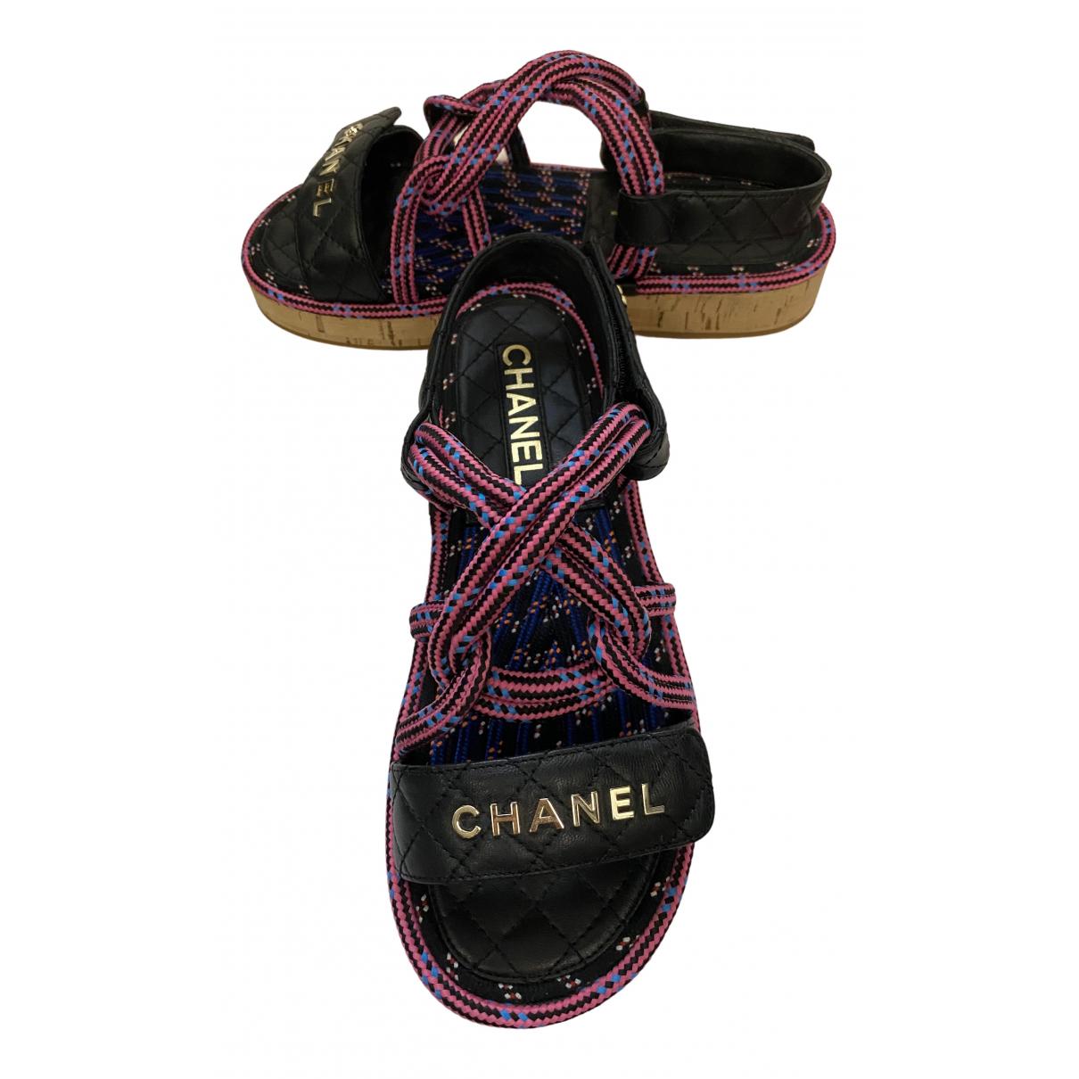 Chanel - Sandales Dad Sandals pour femme en cuir - noir