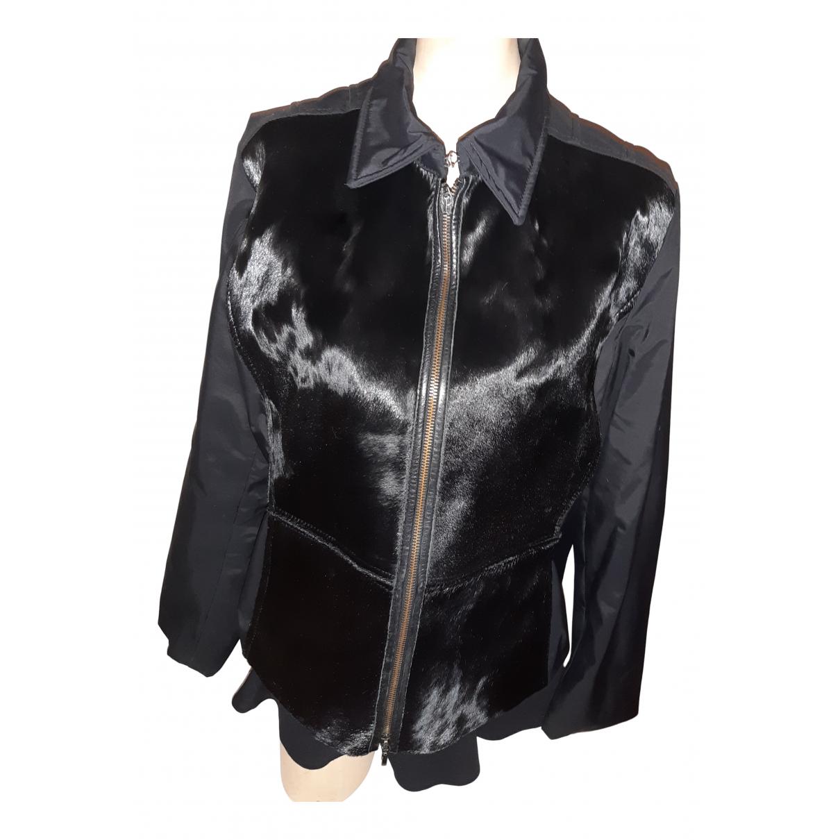 - Veste   pour femme en cuir exotique - noir