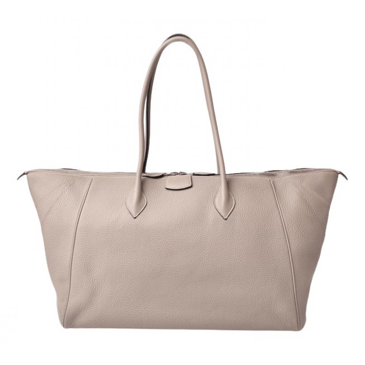 Hermès N Grey Leather handbag for Women N