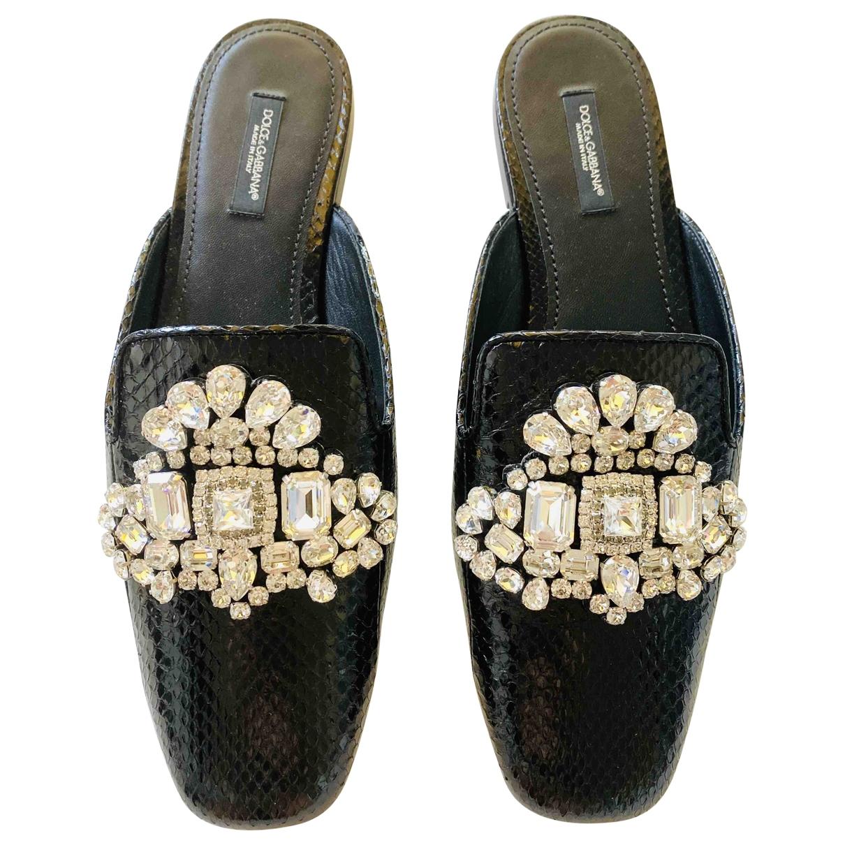 Zuecos de Anguila Dolce & Gabbana