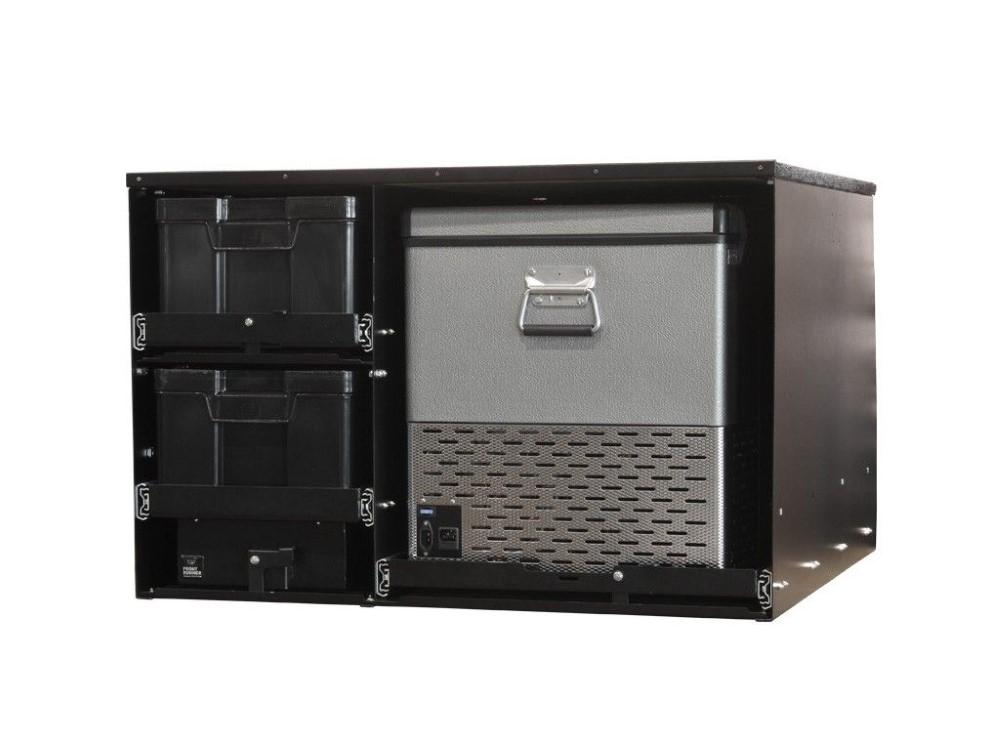 Front Runner SSAM005 4 Cub Box Drawer and Fridge Slide Combo