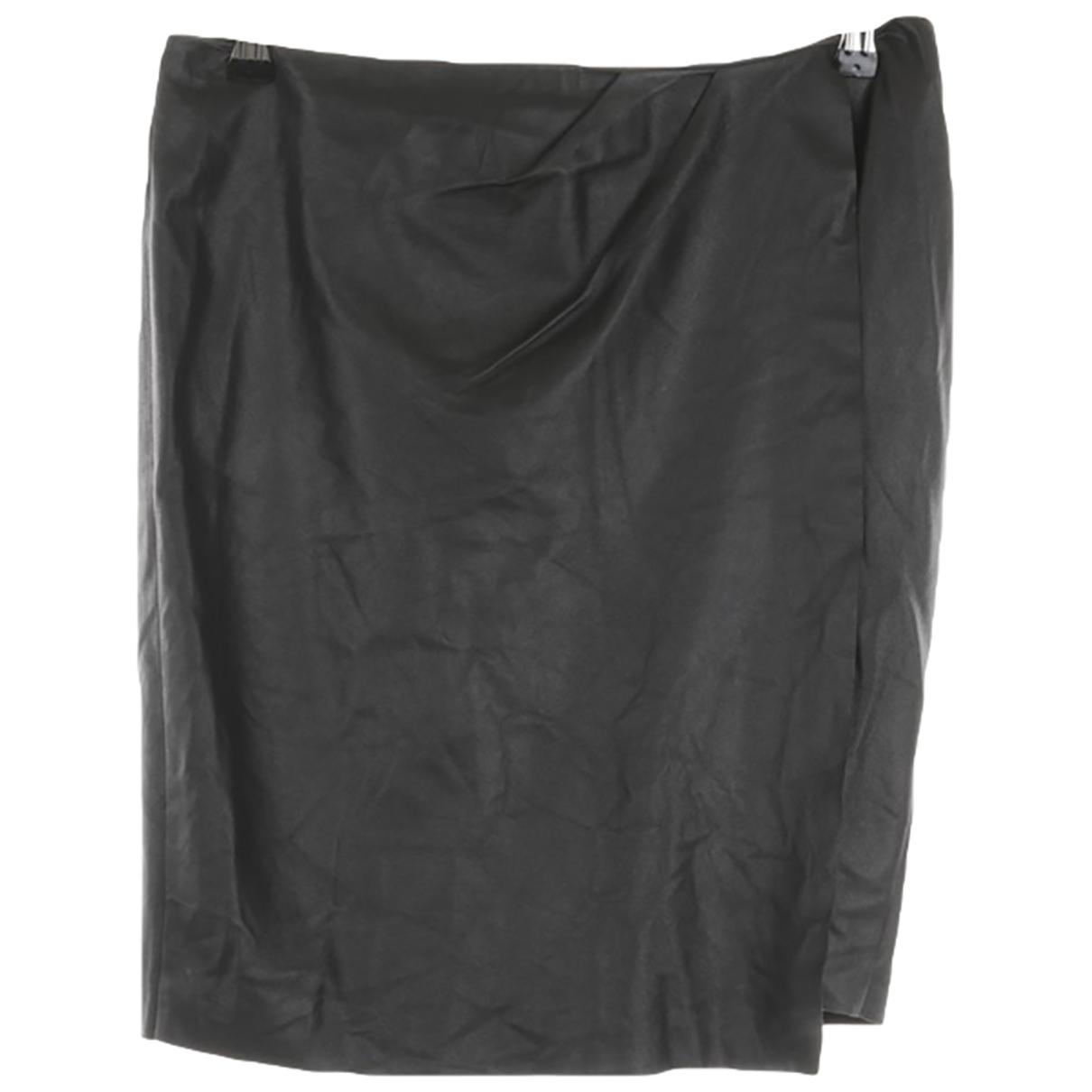 Utzon - Jupe   pour femme en cuir - noir